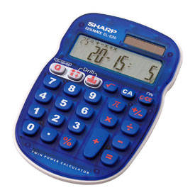 Sharp® EL-S25BBL Math Quiz Calculator