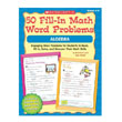 50 Fill In Math Word Problems: Algebra