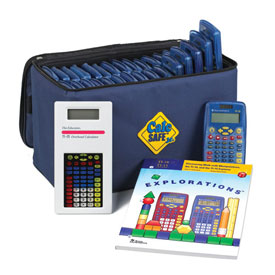 CalcSAFE® Jr. Calculator Package: Texas Instruments® TI-10 Elementary Calculator