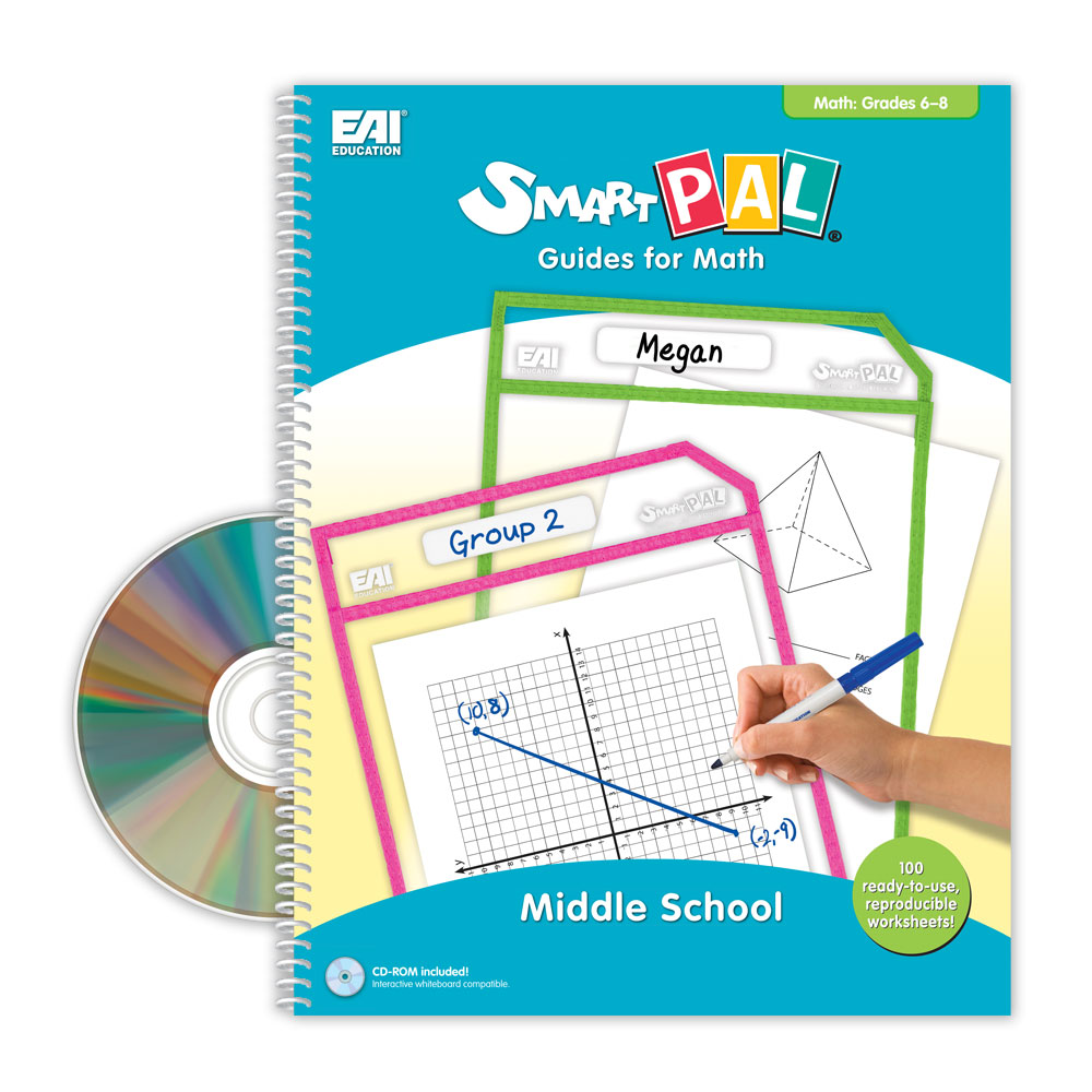 SmartPAL® Guides Reproducible Worksheets for Math: Middle School (with CD -ROM)