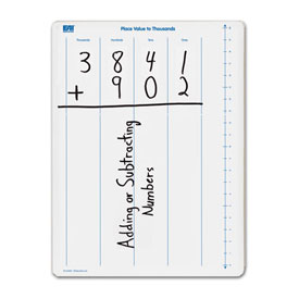 Place Value to Thousands Dry-Erase Board: Double-Sided - Set of 10