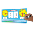 Geared for Time® Elapsed Time Student Dry-Erase Boards: Set of 10