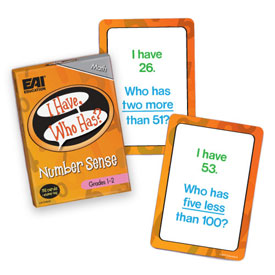 I Have, Who Has? Number Sense Game: Grades 1-2