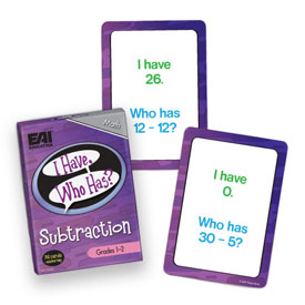 I Have, Who Has? Subtraction Game: Grades 1-2