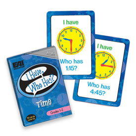 I Have, Who Has? Time Game: Grades 1-2