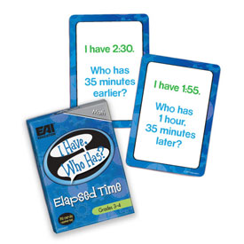 I Have, Who Has? Elapsed Time Game: Grades 3-4