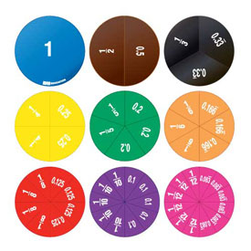 Double-Sided Fraction/Decimal Circles - Set of 51