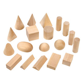 Wooden GeoModel® Solids Complete Set - 10 Sets of 19