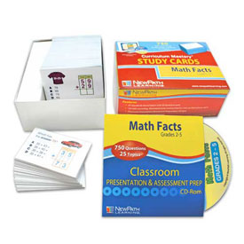Math Facts Study Cards & Interactive Whiteboard CD-ROM