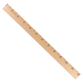 "Wood 12"" Primary Ruler: 1/2"" Scale - Set of 36"