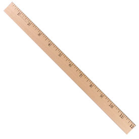 "Wood 12"" Primary Ruler: 1/8"" Scale - Set of 36"