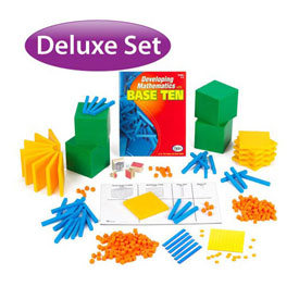 Base Ten Deluxe Classroom Set: Differentiated in Tub