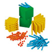 Base Ten Intermediate Classroom Set: Differentiated Plastic - Blocks Only