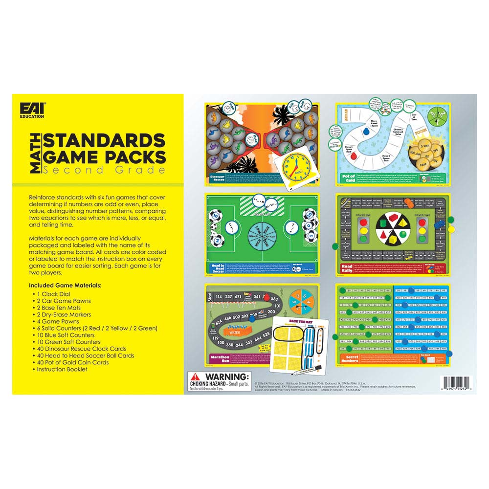 Math Standards Game Packs: Grade 2 - Games, Puzzles and Toys | EAI ...
