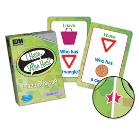 I Have, Who Has? Plane Shapes Game: Grades K-1