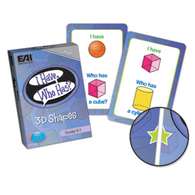 I Have, Who Has? 3D Shapes Game: Grades K-1