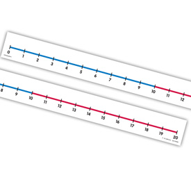 Student Number Lines (0 to 20): Non- Adhesive - Set of 12