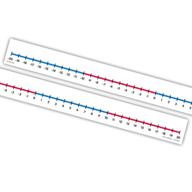 Student Number Lines (-20 to 20): Adhesive - Set of 12
