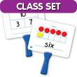 Magnetic Ten Frame & Part-Part-Whole Dry-Erase Paddles Classroom Set