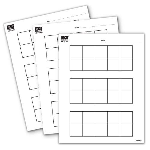 Ten Frame Pad   Sheets  Common Core State Standards  Eai Education