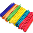 "Craft Sticks - 4 1/2"" Assorted Colors: Pack of 150"