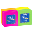 "Sticky Notes: 3"" x 3"" Neon Pads - Pack of 12"