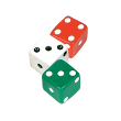 Dice: Red/Green/White - Set of 3