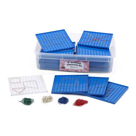 "Geoboard: 9"" Single-Sided - Classroom Kit"