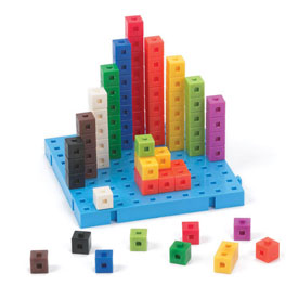 Interlocking Centimeter Cubes - Set of 5000 in Tub