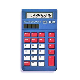 Texas Instruments® TI-108 Basic Calculator - Teacher Pack (10 Calculators)