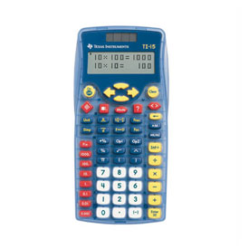 Texas Instruments® TI-15 Fraction Calculator