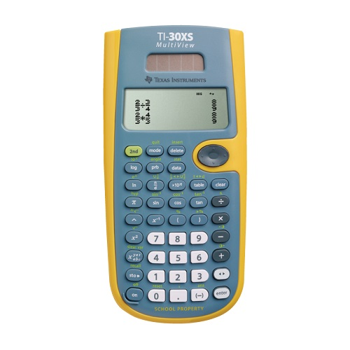 Texas instruments ti-30x iis 2-line scientific calculator top.