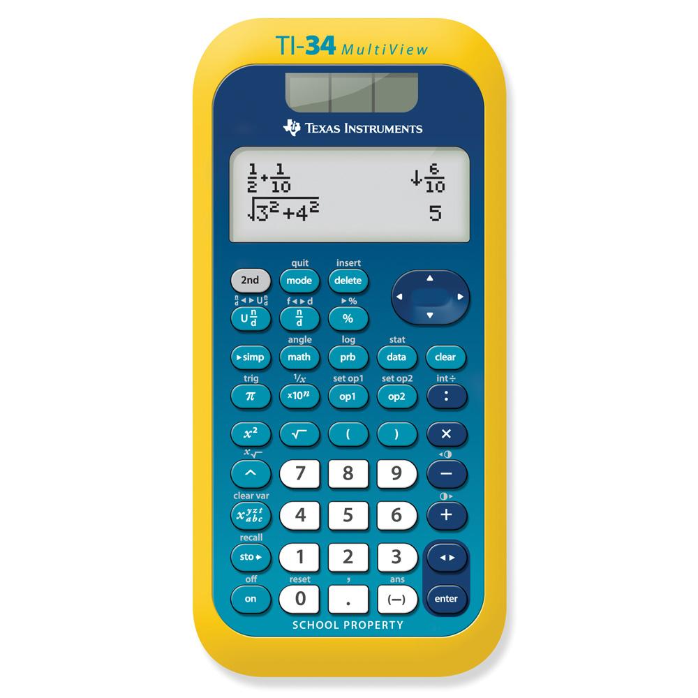 Texas Instruments® TI-34 MultiView™ EZ-Spot Scientific Calculator ...
