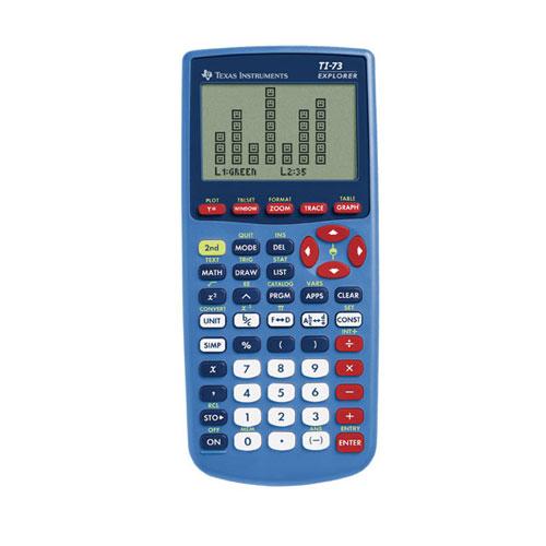 Texas Instruments® TI-73 Explorer Graphing Calculator - Calculators ...