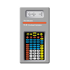 Texas Instruments® TI-15 Overhead Fraction Calculator