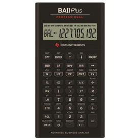 Texas Instruments® BA-II Plus Professional Financial Scientific Calculator