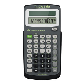 Texas Instruments® TI-30Xa-VA SE (Virginia Schools Model) Dual-Powered Scientific Calculator